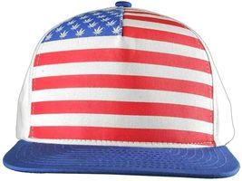 Dope Couture Pledge Legion USA Weed Marijana Stars Stripes Flag Snapback Hat image 9