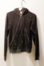 Juicy Couture Zip Front Hoodie - Ladies Size XL - Brown Velour - Gorgeous! - $15.88