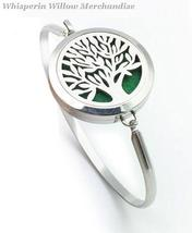 Tree of Life Aromatherapy Bracelet / 316L Stainless Steel Diffuser Bangl... - $16.95