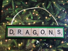 DRAGONS New York Arena Christmas Ornament Scrabble Tiles Rear View Mirror - $8.90