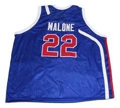 Moses Malone #22 Utah Stars New Men Basketball Jersey Blue Any Size image 4