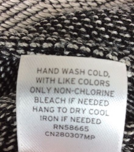 Caslon Open Front Cardigan Long Sleeve Cotton Size XS