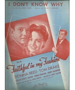 1946  I Don't Know Why from movie Faithful in my Fashion Vintage Sheet m... - $9.95