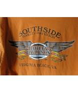 Harley Davidson Long Sleeve Size XL Orange Double Sided Virginia Beach &... - $22.76