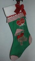 VINTAGE GORHAM CHRISTMAS STOCKING Berry Christmas Bear  - $9.89