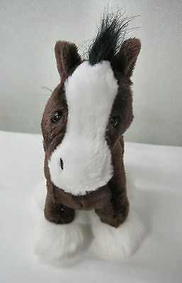 Ganz Stately Clydesdale Horse Plush Stuffed Toy Huggable Lovable Brown Pony