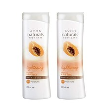 Avon Naturals Papaya Whitening Hand & Body Lotion (set of 2 of 200ml each) - $20.55