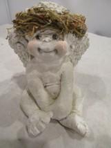 Vintage Cast Art Industries Dreamsicles 1991 Cherub Angel Sitting Pretty... - $14.99