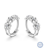925 Sterling Silver earring CZ Cubic Zirconia clear crystal DLE56 - $14.99