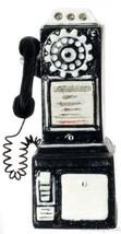 Dollhouse Miniature Pay Phone, 1950s Style, Black #T8547 - $18.10