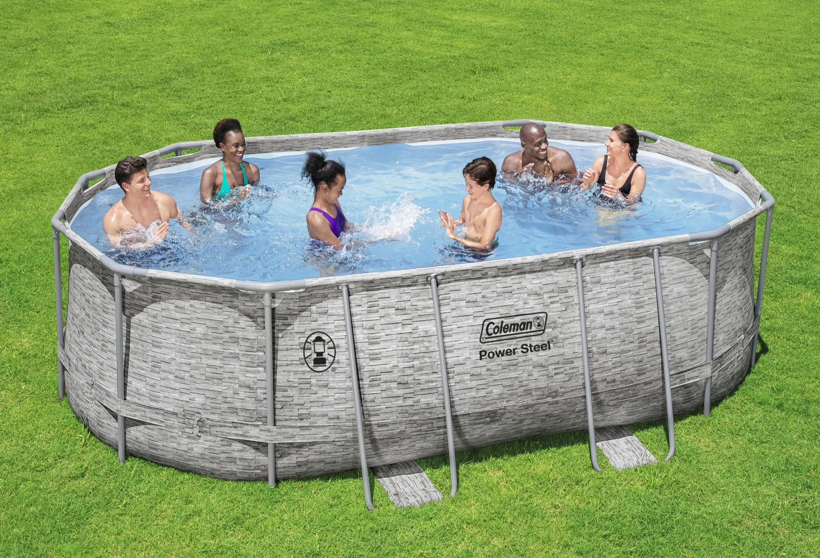 "Coleman Power Steel 16' x 10' x 48"" Oval Above Ground Pool Set - Ready to Ship"