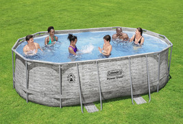 "Coleman Power Steel 16' x 10' x 48"" Oval Above Ground Pool Set - Ready to Ship image 1"