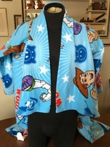 Disney Pixar Toy Story Wearable Fleece Blanket W/Sleeves Buzz & Woody Yo... - $12.50