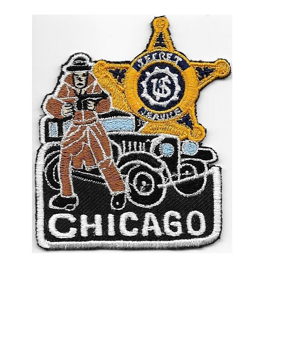 Et service usss illinois chicago field office special agent service patch black 3.5 x 3 in 12.99