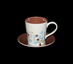 2-Pc Starbucks 2006 Iridescent Pearl Floral Butterflies Cup & Saucer Bro... - $24.99
