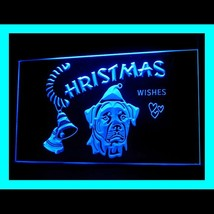 150042B X'mas greet Rottweiler Dog Christmas Stockings Display LED Light Sign - $18.00