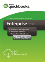 QuickBooks Enterprise 2018 Silver Edition, 8-User (1-year subscription) - $4,070.00