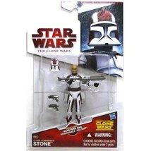 Star Wars the Clone Wars basic figure Commander stone - $8.50