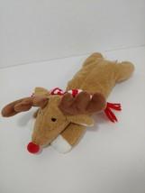 Bath & Body works Doe eyes red nosed reindeer tan brown plush red striped scarf - $17.81