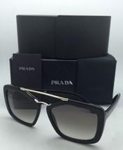 Nuevo Prada Gafas de Sol Spr 24R 1AB-0A7 56-17 Negro y Dorado Monturas Gris - $325.93