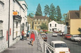 Girl In Red by Kodak Sign at Chew Magna Village Somerset Postcard - $9.99