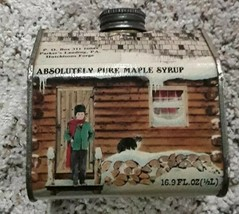 Hutchisons forge Pure MAPLE SYRUP Tin Swanton,Vermont Copyrighted 1984 1... - $12.60
