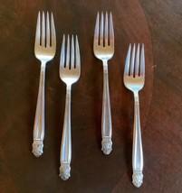 """Holmes & Edwards Silverplate Danish Princess Set of 4 - 6 3/4"""" Salad Forks - $19.99"""