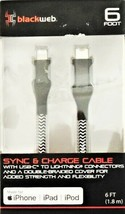 Blackweb Sync & Charge Cable 6 FT for iPhone iPad iPod Lightning Connectors
