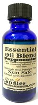 Peppermint 1oz/29.5ml Blue Glass Bottle of PREMIUM skin safe fragrance oil - $6.80