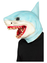 Adult Mens Ladies Novelty Funny Shark Stag Under The Sea Fancy Dress Animal Mask - $37.32