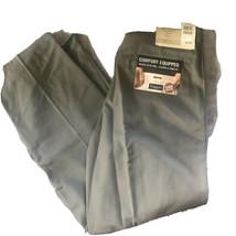 NWT Haggar men's pants Classic Fit olive pleated  34W X 30L - $21.95