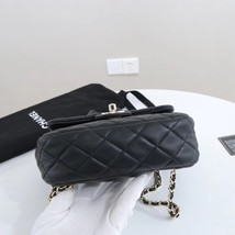 AUTHENTIC CHANEL QUILTED BLACK LAMBSKIN BACKPACK BAG GHW image 3