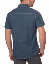 NEW G.H. Bass & Co. Men's Short Sleeve Dark Blue Woven Shirt image 2