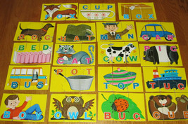 Playskool Jigsaw Puzzles - Words to Spell Match-Ups - 19 Puzzles - 1978 - $12.99