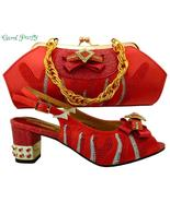 OLAMICH Women Italian Style Shoes with Matching Bag New Designer Glamour... - $120.00