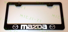 Mazda Stainless Steel Metal License Plate Frame Rust Holder Free W/ Bolt Caps - $13.50
