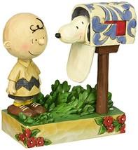 "Jim Shore for Enesco Peanuts Charlie Brown & Snoopy Mailbox Figurine, 5"" - $39.87"