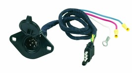Hoppy 47155 Plastic 6-Pole Round to 4-Way Flat Connector with Flexible W... - $21.99