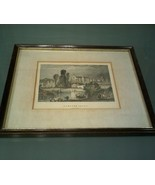 Vintage~ Hampton Court Middlesex Print - $12.86