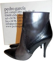 $650 Pedro Garcia Ankle Boot Harriet' Brogue Pointy Toe Booties 7 -37.5  - $265.91