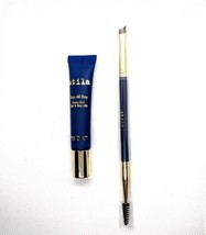 Stila Stay All Day Brow Gel & Brush Black 0.25oz New Boxed - $14.96
