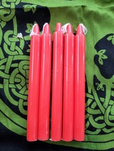 """Pack of 5, 5"""" Spell Candles RED, 1 cm in Diameter Small Candles Wiccan R... - $5.49"""