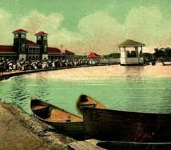 Denver Colorado CO City Park Lake and Band Stand Boats 1907 Postcard - $2.95