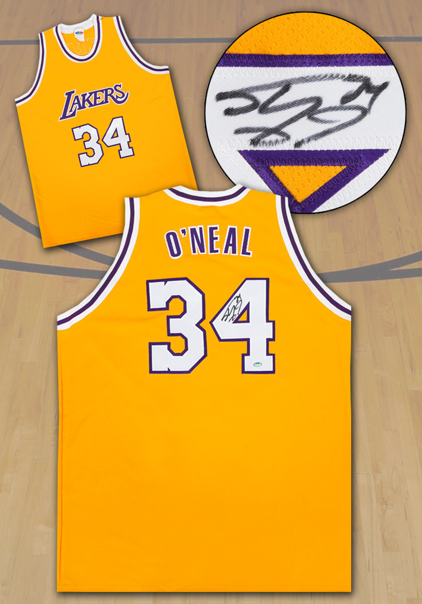 Shaquille O'Neal Los Angeles Lakers Autographed Custom Basketball Jersey: SS COA