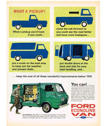 Vintage 1963 Magazine Ad Ford Econoline Van Gives Pickup Owners More Adv... - $5.93