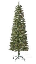 6ft Pre-lit Artificial Christmas Tree Virginia Pine with Multicolored Lights NIB image 4