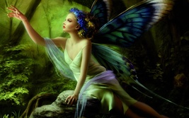 Butterfly Fairies  – Choice of Gender and Vessel - 4 available - ring or pendant - $49.00