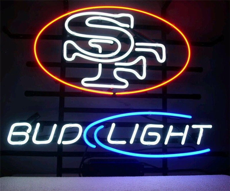 "New San Francisco 49ers Bud Light Beer Neon Sign 24""x20"""