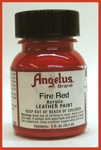Angelus Acrylic Leather Paint-1 oz.-Fire Red - $6.73