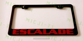 Cadillac Escalade Stainless Steel License Plate Frame Rust W/ Bolt Caps - $13.50
